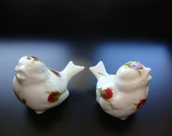 Hammersley Grandmother Rose Bird Salt and Pepper Shaker