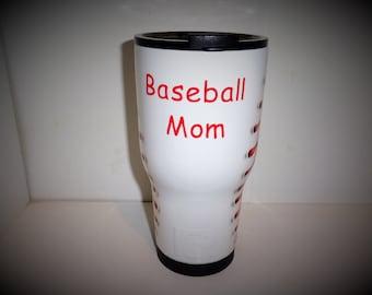 Baseball mom gift, Baseball mom Yeti, Baseball mom Rtic, Baseball mom gift