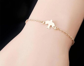 silver bracelet dove, bird, end, summer
