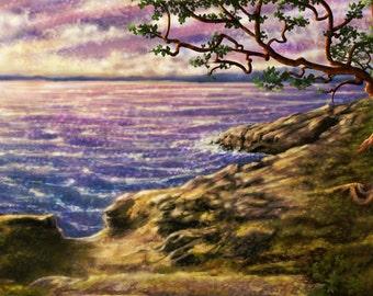 Secret Cove - Art Prints by Simon Haiduk. Sea Nature Inspired Visionary Art