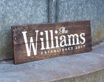 Wedding Gift Pallet Sign, Last Name Established Date Sign, Est Date Sign, Custom Wood Sign,  Personalized Anniversary Gift, Wedding Date