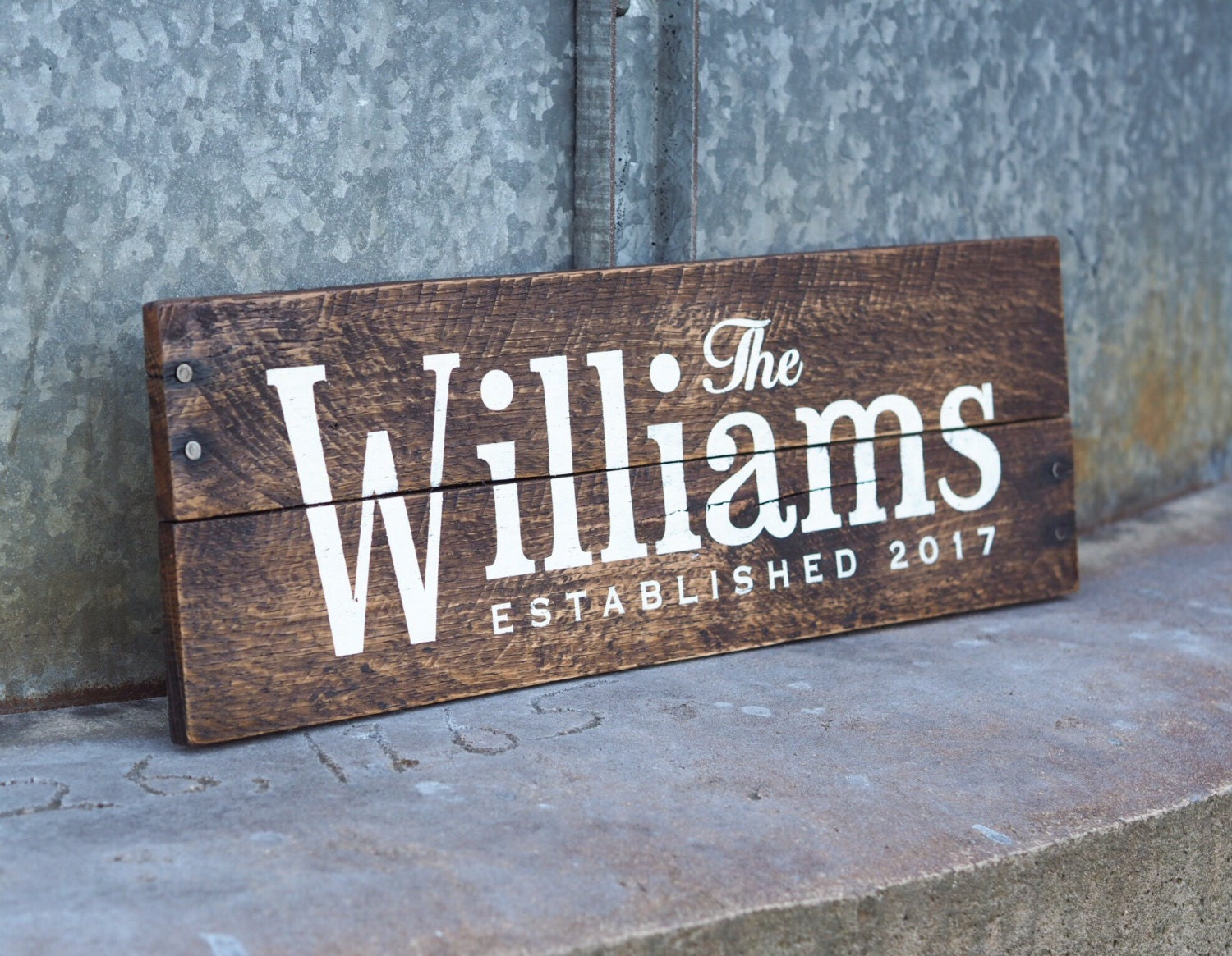 Wedding Date Picture Gift: Wedding Gift Pallet Sign Last Name Established Date Sign Est