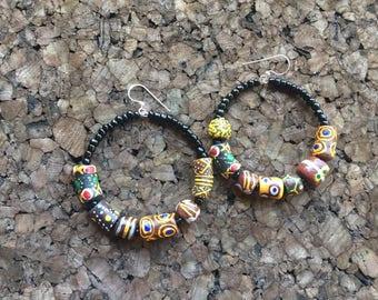 Afrocentric - Krobo Hoop Earrings