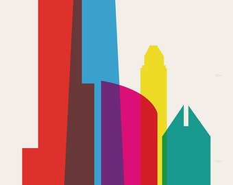Shapes of Chicago art print