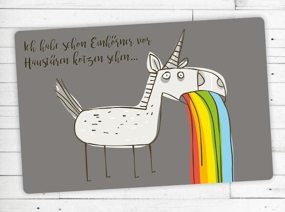 "Foot Mat (Ceder) motif ""unicorn"" Unikorn"
