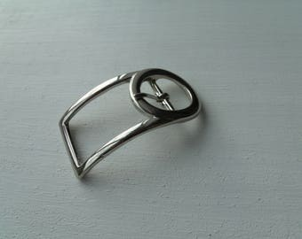 Belt buckle and/or strap in silver Metal 3 cm * 2 cm * 5.9 cm curved