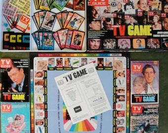 TV Guide Game Vintage TV Trivia Game 1984 Classic TV