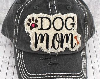 Dog Mom embroidered women's baseball cap, Southern, preppy furmama hat, Dog Mama