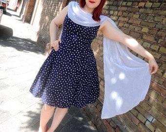 80er Rockabilly Dress mit Petticoat, 38, M, Vintage, 50s Style, Retro