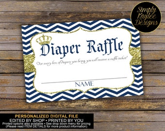 Royal Prince Diaper Raffle Tickets