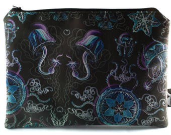 Jellyfish Pouch Cosmetics/Makeup/Artist Bag - Curiosity Collection - Mermaid