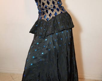 FREE  SHIPPING   Couture  Vintage  Silk  Taffeta  GOWN