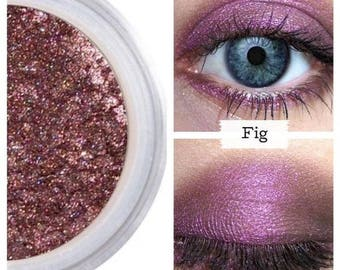Fig Eyeshadow, Silky Smooth Formula, Rich Pigmented Shadow, True Color Payoff, Plum Shimmer, Vegan Cruelty Free, Natural Love, Mineral Eyes