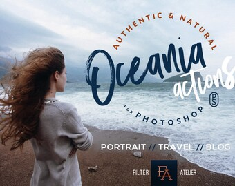 Oceania Photoshop Actions - landscape actions for Adobe Photoshop CS4-CC - maritime & travel photography workflow featuring 5 amazing styles