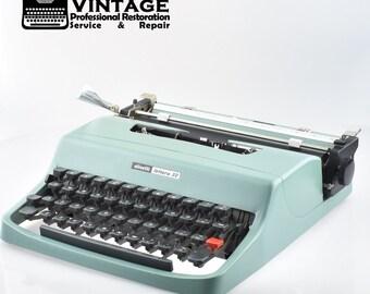 Vintage Olivetti Lettera 32 Typewriter Working Black Red Ribbon portable Spain