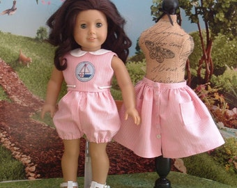 Vintage Style Romper and Skirt for American Girl
