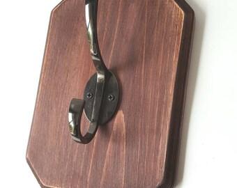 Decorative single hook | coat hook | purse hook | towel hook | Robe hook | Bathroom Wall decor | Rustic hand towel hook | hand towel rack