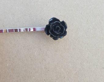 Black Hair Pins (set of 2), hair pins, flower pins,girl hair, hair pin, bobby pin