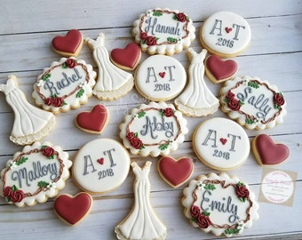 Bridal shower, engagement party, (36 cookies)