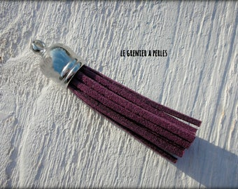 PURPLE SUEDE TASSEL