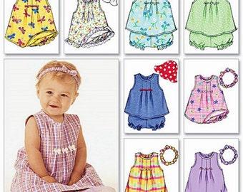 Baby Dress Pattern, Baby Girls' Romper Pattern, Toddler Girls' Dress Pattern, Butterick Sewing Pattern 3405
