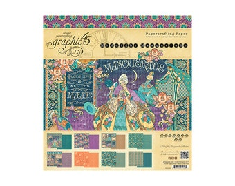 Graphic 45 Midnight Masquerade Collection 12 x 12 Paper Pad