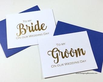 Goldfolie, meine Braut und Bräutigam Hochzeit Tag Karte - Braut und Bräutigam - Goldfolie Hochzeit Tag Karte - Mann und Frau Karten - Hochzeit DM136