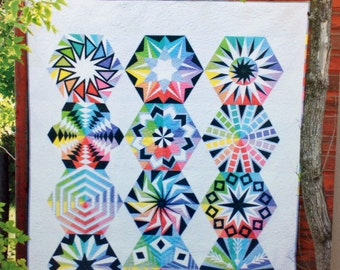 """ARCADIA AVENUE - Block of the Month Quilt Pattern - 72"""" x 90"""""""