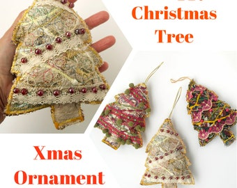 Fiber Art Tutorial - Christmas Ornament Tutorial - Xmas Craft DIY