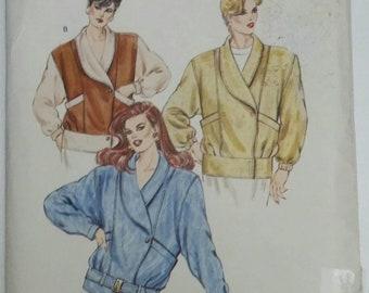 Kwik Sew 1454 1980's Misses Jacket uncut multi sized pattern