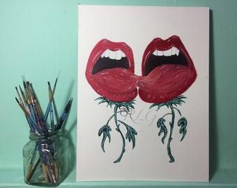 The Growing Kiss Prints