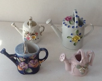 Miniature Watering Cans / Vintage Ceramic Watering Cans / Instant Collection