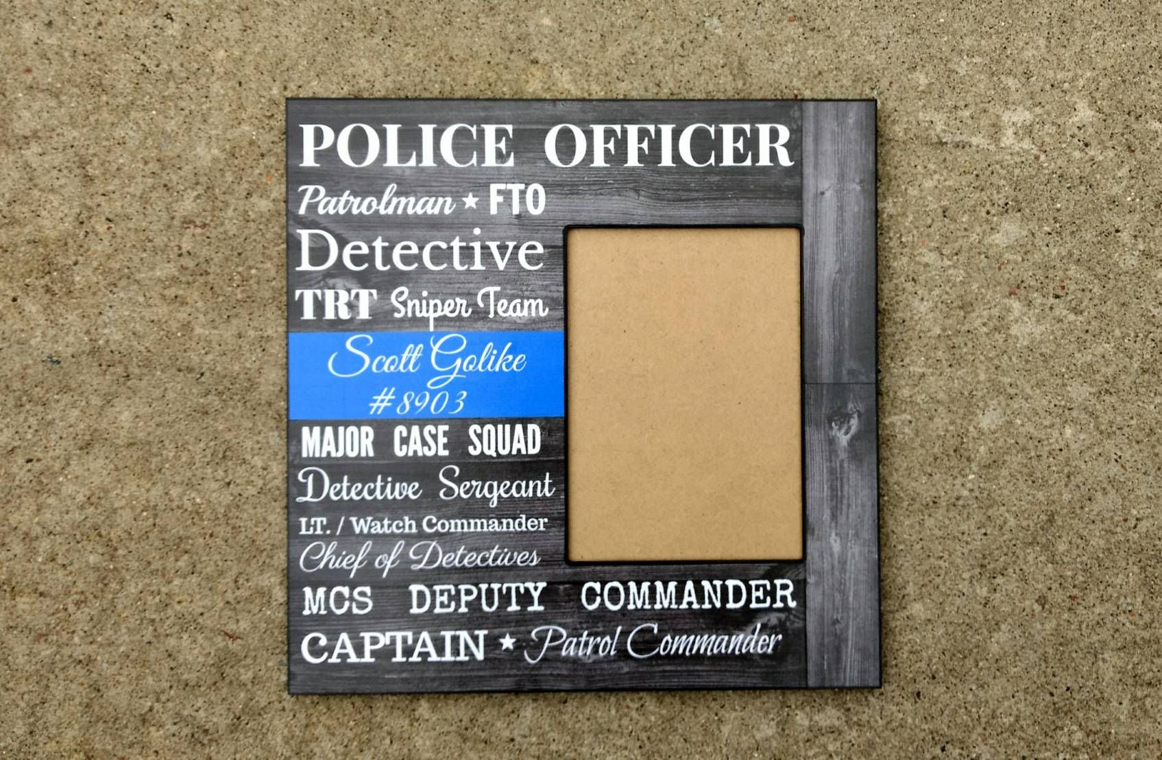 Personalized police officer picture frame police retirement zoom jeuxipadfo Choice Image
