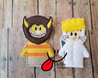 Wild Things finger puppets