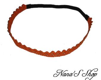 Lace headband, orange