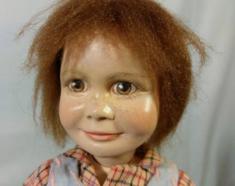 "14"" Jamie Doll by Artist Gloria C. Young from New Zealand 1990"