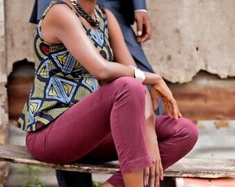Ankara Peplum Top, African Print Top, Ankara print peplum top, Ankara Fashion, Women's print top, Patterned top, Handmade African fashion