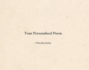 Your Personalised Poem (Digital + Physical Copy)