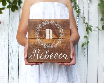 Personalized name sign Custom name sign Nursery decor New baby gift Baby name sign Baby shower gift Rustic sign Personalized gift New baby