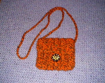crochetted purse