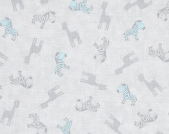 Giraffes and Zebras Fabric - Special Delivery