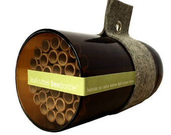 Leafcutter Native Bee Nest - Urban Bee House - Bee Houses - Pollination - Solitary Bees - Attract Native Bees - Bee Nest - Insect Nest Bee