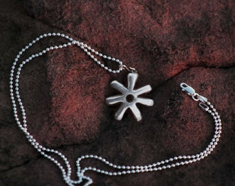 Silver Ananse Necklace - Adinkra Symbol Pendant - Ananse Ntontan - Men's Necklace - Jewelry with Meaning - Wisdom - Creative