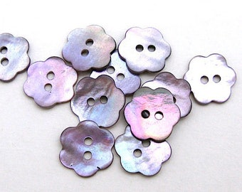 16 buttons 14 mm mother of Pearl flower shape