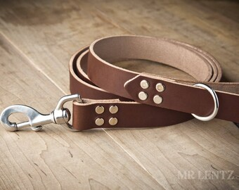 Leather Dog Leash, Dog Leash, Leather Leash, Dog Leash Leather, Large Dog Leash, Leather Dog Leashes, Brown Leather Leash  076-M