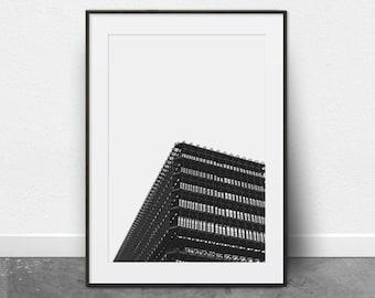 Architectural Print, Printable Art, Black and White Photography, Minimalist Art, Digital Download, Printable Wall Art, City Prints, Modern