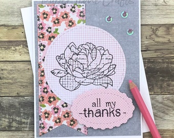All My Thanks Rose IV Card