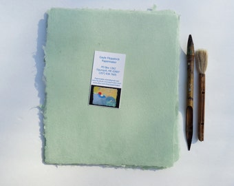 NEW Eight Sheets of Handmade Celadon Abaca Kozo Paper
