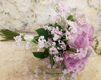 Gorgeous Gypsophila and  lilac, artificial bridal bouquet