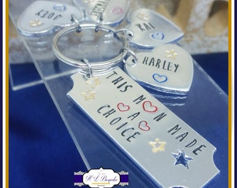 Personalised Step Dad Keyring - Step Father Keychain - Step Dad Gift - Step Father Gift - Step Father Keychain - Gifts For Step Dads